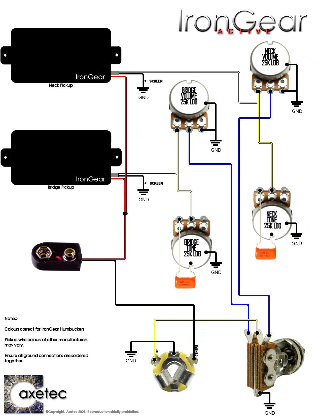 Les Paul Wiring Diagram 2009 Reinvent Your Guitar Diagrams Irongear Pickups Rh Co Uk Epiphone Special Switch